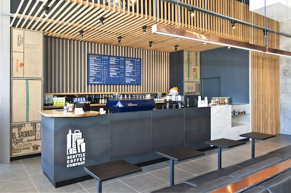 Custom retail space | Seattle Coffee Company
